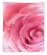 Vintage Pink Rose Fleece Blanket