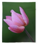 Soft Pink Tulip Fleece Blanket