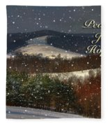 Soft Sifting Christmas Card Fleece Blanket