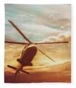Soft Sunset Landing  Fleece Blanket