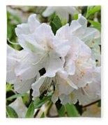 Soft White Azaleas Fleece Blanket