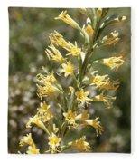 Soft Yellow Desert Flowers Fleece Blanket