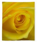 Soft Yellow Rose Fleece Blanket