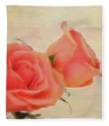 Softly Peach Fleece Blanket