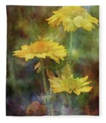 Softly Yellow 3052 Idp_2 Fleece Blanket