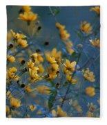 Softly Yellow And Blue Fleece Blanket