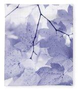 Softness Of Lavender Leaves Fleece Blanket