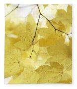 Softness Of Yellow Leaves Fleece Blanket