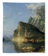Sogne Fjord Norway  Fleece Blanket