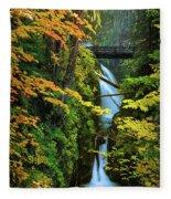 Sol Duc Falls In Autumn Fleece Blanket