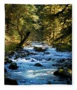 Sol Duc River Above The Falls - Washington Fleece Blanket