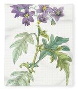 Solanum Quercifolium Fleece Blanket