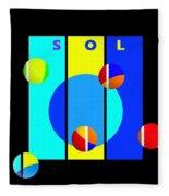 Solar Activity Fleece Blanket