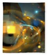 Solar Blue Stars Fleece Blanket
