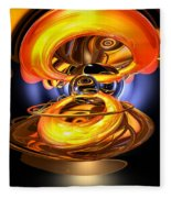 Solar Flare Abstract Fleece Blanket