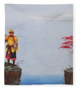 Soldier By Gorge Fleece Blanket