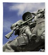 Soldier In The Boer War Fleece Blanket