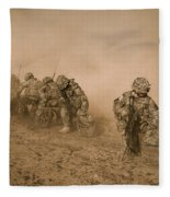 Soldiers In The Dust 2 Fleece Blanket
