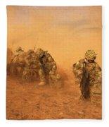 Soldiers In The Dust 4 Fleece Blanket