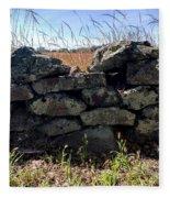 Soldier's View Of The Battlefield Fleece Blanket
