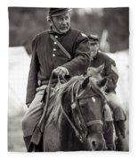 Solider On Horseback Fleece Blanket