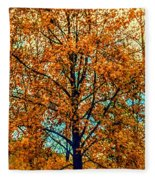 Solitary Fall Fleece Blanket