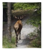 Solitary Stroll Fleece Blanket