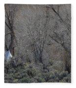 Solitary Tipi Fleece Blanket