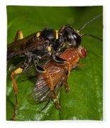 Solitary Wasp Fleece Blanket