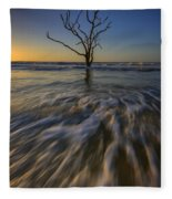 Solitude At Botany Bay Fleece Blanket