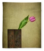 Solitude In Bloom Fleece Blanket
