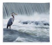 Solitude In Stormy Waters Fleece Blanket