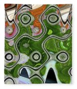 Some Pink And Green Abstract Fleece Blanket