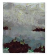 Someone Behind The Clouds Fleece Blanket