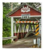 Somerset County Burkholder Covered Bridge Fleece Blanket