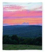 Somerset Sunset Vertical Fleece Blanket