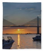 Something About A Sunrise Triptych 2 Fleece Blanket