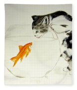 Something Fishy Fleece Blanket