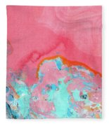 Somewhere New- Abstract Art By Linda Woods Fleece Blanket