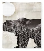 Something Wild Bear Fleece Blanket