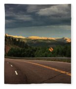Sometime Life Throws You Curves, Enjoy The Ride Fleece Blanket