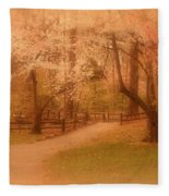 Sometimes - Holmdel Park Fleece Blanket