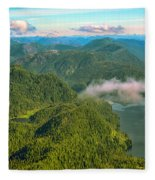 Over Alaska - June  Fleece Blanket