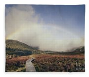 Somewhere Over The Rainbow Fleece Blanket