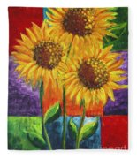 Sonflowers I Fleece Blanket