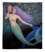 Song Of The Sea Mermaid Fleece Blanket