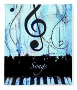 Songs - Blue Fleece Blanket