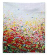 Songs Of Spring 3 Fleece Blanket