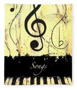 Songs - Yellow Fleece Blanket