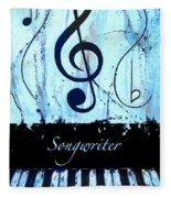 Songwriter - Blue Fleece Blanket